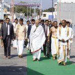 Narendra modi visits tirumala