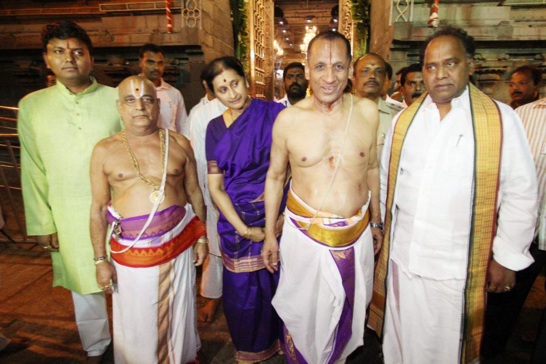 Governor in Tirumala