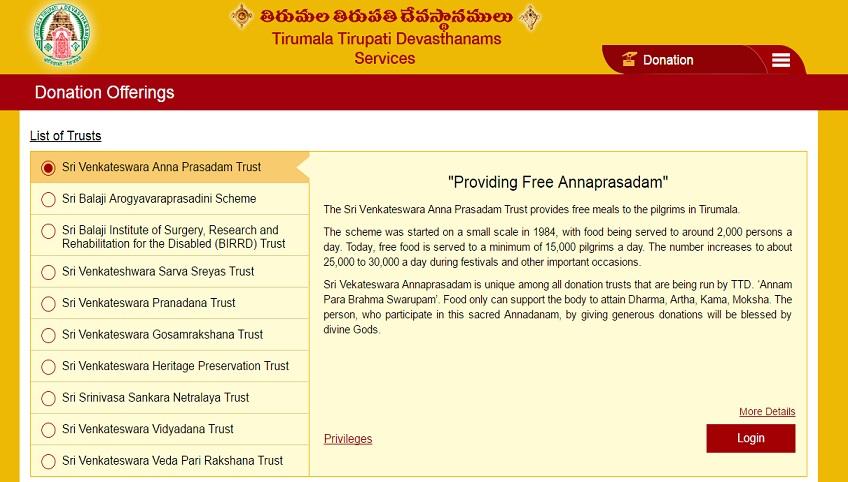 TTD website