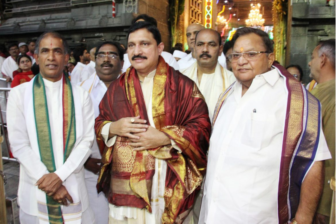 State union Minister in Tirumala