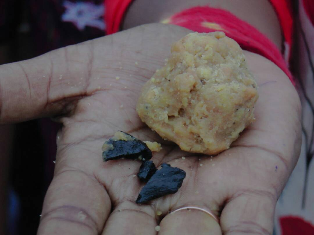 Coal in tirumala laddu