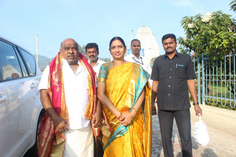 Telangana Forest Minister Jogu Ramanna visits Tirumala